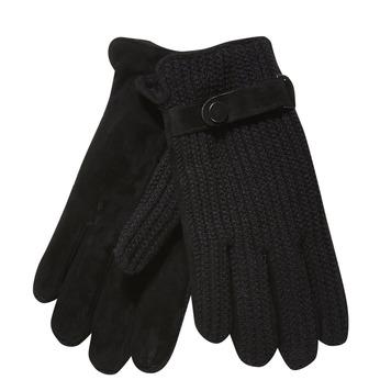 Men´s gloves with knit, black , 909-6295 - 13