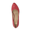 Red leather pumps insolia, red , 724-5633 - 19