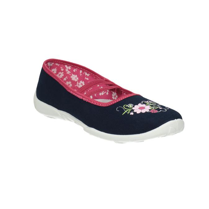 Children's slippers mini-b, blue , 379-9208 - 13