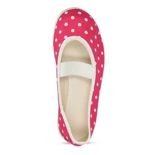Kids' gym shoes with dots, pink , 279-5102 - 17