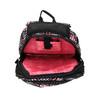 Girls´ school backpack with printed pattern bagmaster, black , 969-5615 - 15