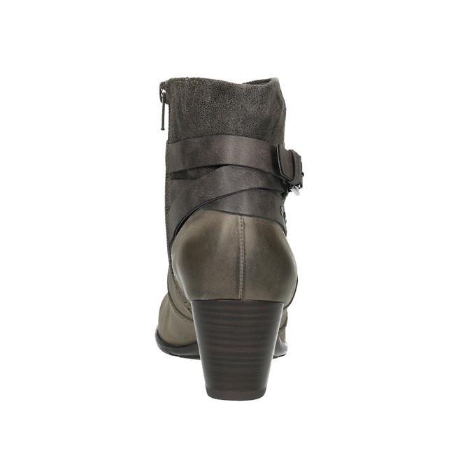 Ladies' ankle-cut shoes bata, gray , 696-2617 - 17