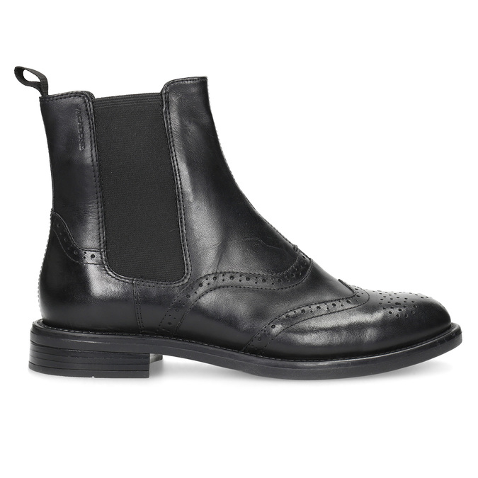 Leather Chelsea Boots with Brogue work vagabond, black , 514-6002 - 19