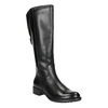 Ladies' leather Cossacks in black bata, black , 596-6604 - 13