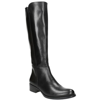 Ladies' leather high boots bata, black , 594-6586 - 13
