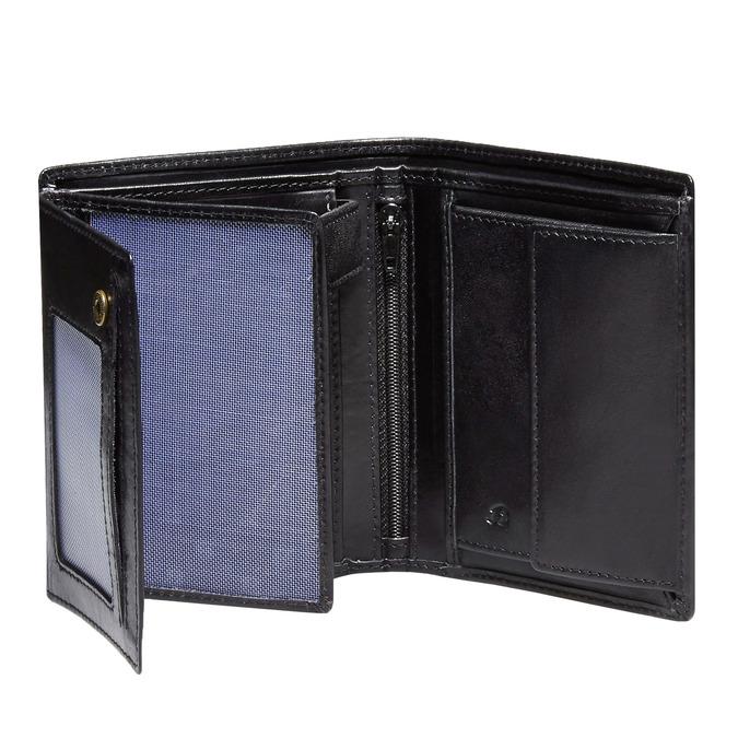 Men's leather wallet bata, black , 944-6121 - 15