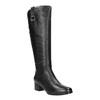 Ladies´ low-heeled leather Cossacks bata, black , 694-6634 - 13
