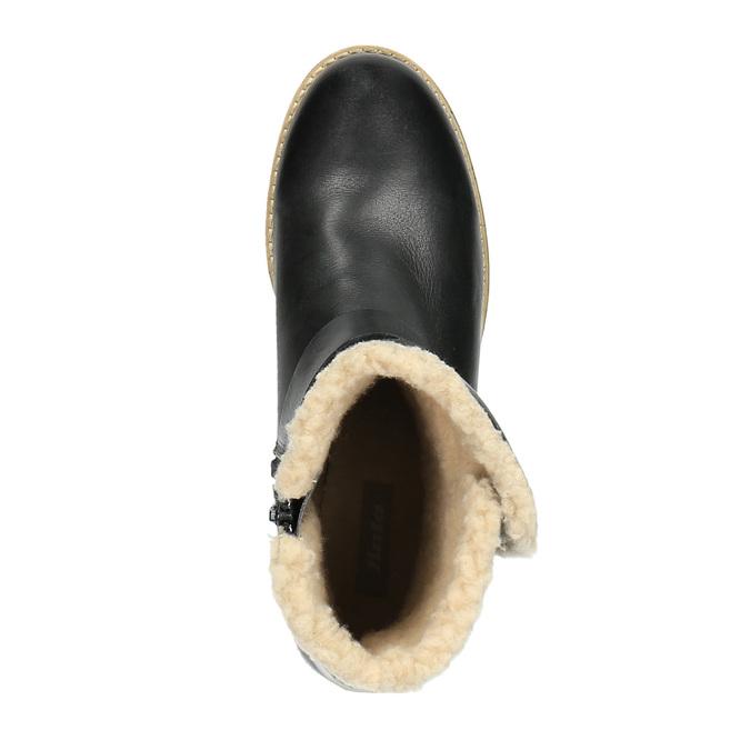 Ladies´ boots with fur bata, black , 594-6609 - 19