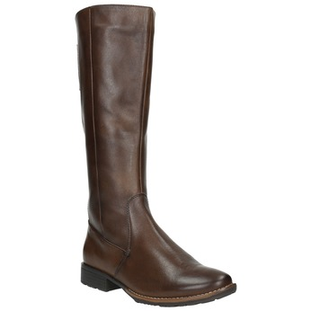 H-width leather Cossacks bata, brown , 596-4611 - 13