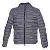 Hooded men's jacket bata, gray , 979-2627 - 13