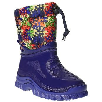Children's insulated winter boots mini-b, blue , 292-9201 - 13
