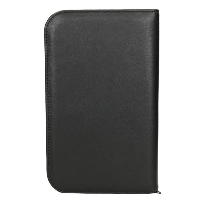 Leather manicure set bata, black , 944-6205 - 16