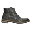Men's leather ankle boots bata, gray , 894-2621 - 15