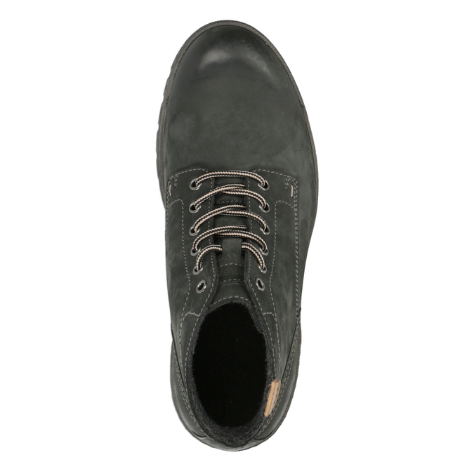 Men's leather ankle-cut shoes weinbrenner, gray , 896-2107 - 19