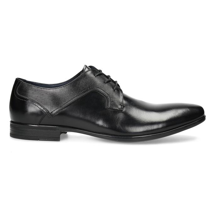Men's leather shoes bata, black , 824-6758 - 19