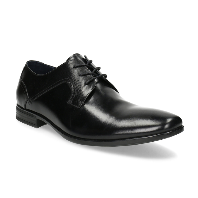 Men's leather shoes bata, black , 824-6758 - 13