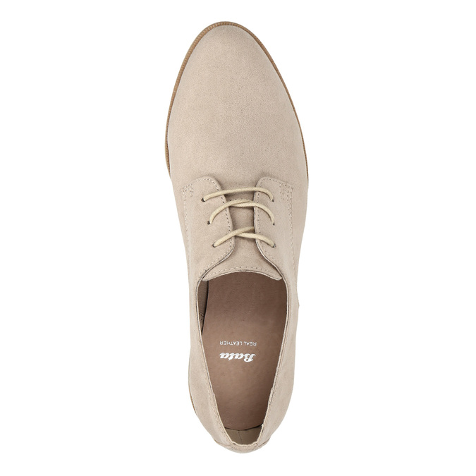 Ladies' Derby shoes bata, beige , 529-8632 - 19