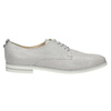Leather shoes with perforations bata, gray , 526-1626 - 15