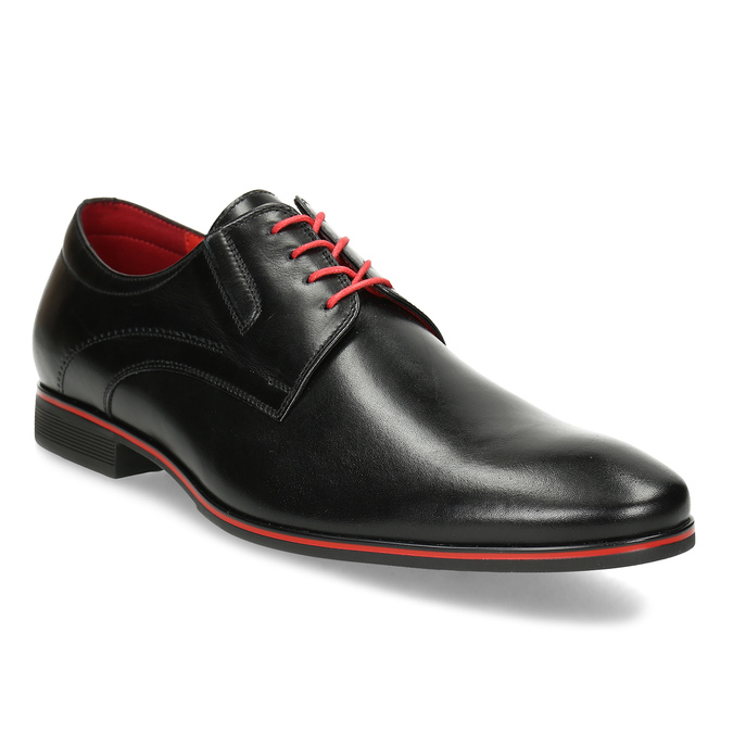 052ac4276ef9 Conhpol Leather shoes with red details