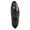 Black leather Oxford shoes conhpol, black , 824-6868 - 19