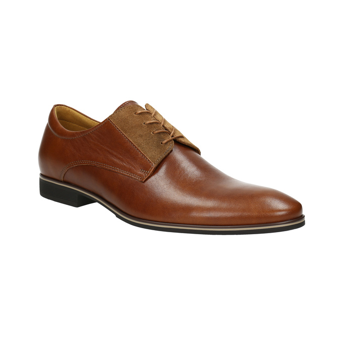 Brown leather shoes conhpol, brown , 824-3858 - 13