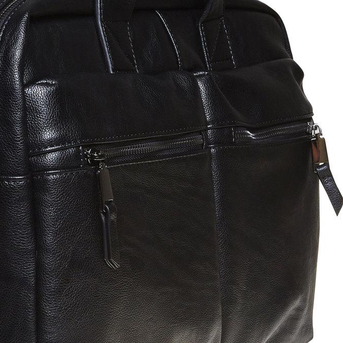 Black bag bata, black , 961-6521 - 17