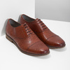 Brown leather Oxford shoes vagabond, brown , 824-3048 - 26