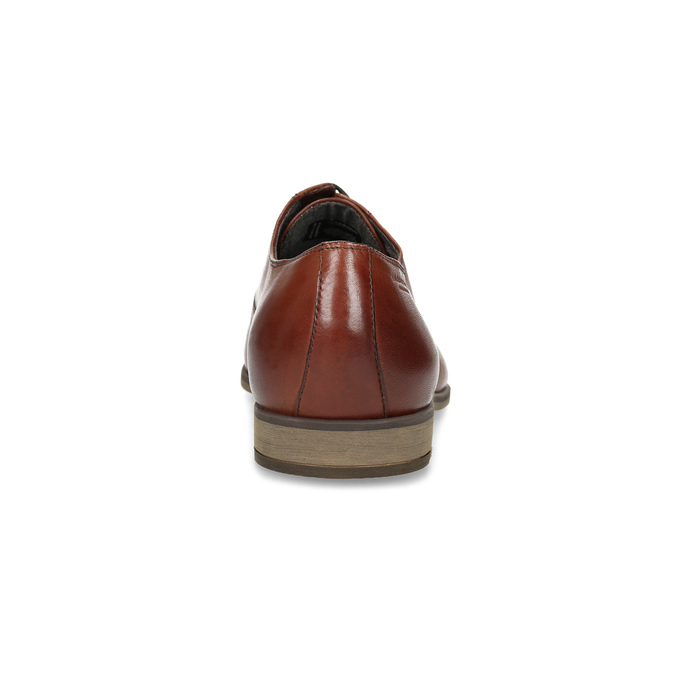 Brown leather Oxford shoes vagabond, brown , 824-3048 - 15