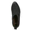 Black leather high ankle boots bata, black , 596-6633 - 19
