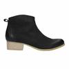 Black leather high ankle boots bata, black , 596-6633 - 15