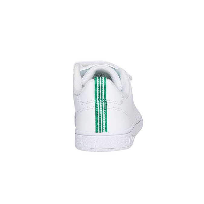 Children's sneakers in white with velcro fastening adidas, white , 301-1168 - 17