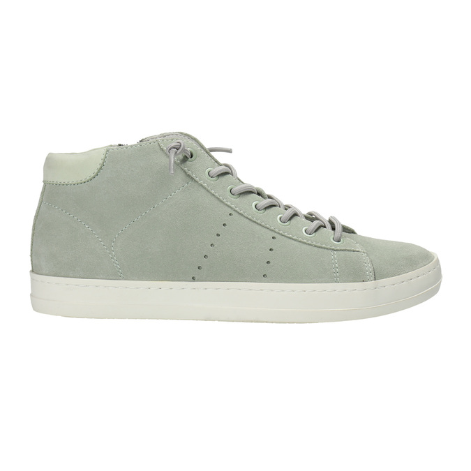 Ladies´ leather ankle-cut sneakers bata, green, 523-7602 - 15