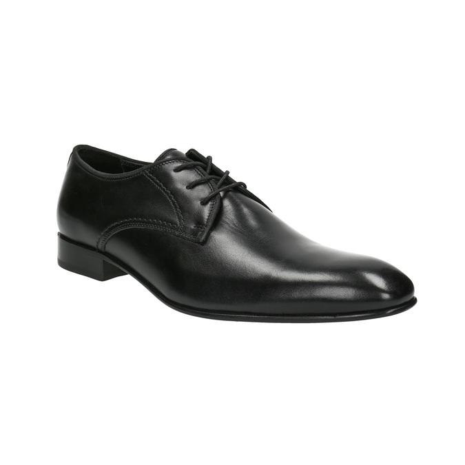 Men's 100% leather  shoes bata, black , 824-6836 - 13