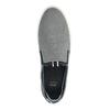 Grey leather slip-ons bata, gray , 833-2600 - 19