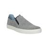 Grey leather slip-ons bata, gray , 833-2600 - 13