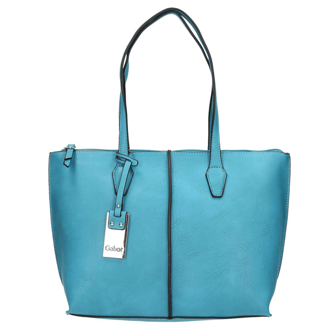 Blue Shopper handbag gabor-bags, turquoise, 961-9074 - 26
