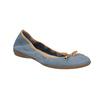 Blue leather ballet pumps with flexible topline bata, blue , 526-9617 - 13