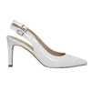White leather pumps with open heel insolia, white , 724-1634 - 15