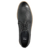Men's leather shoes with distinctive stitching bata, black , 826-6815 - 19