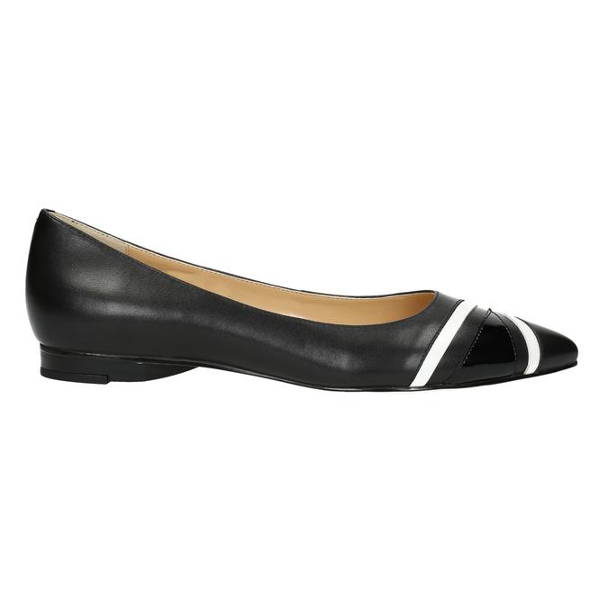 Ladies´ pointed ballerinas bata, black , 524-6602 - 15