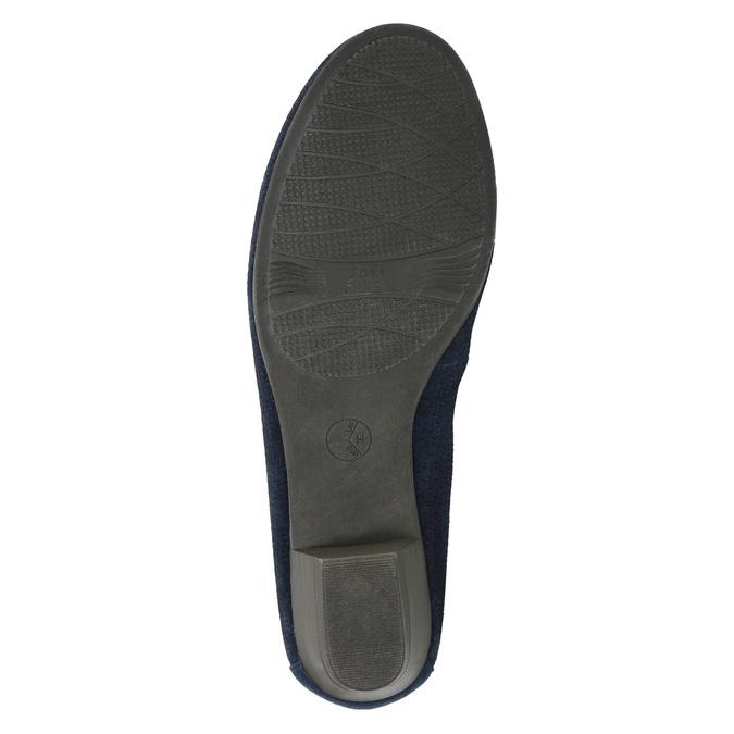Leather pumps width H bata, blue , 623-9601 - 26