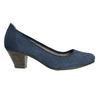 Leather pumps width H bata, blue , 623-9602 - 15