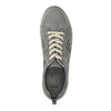 Leather tennis shoes with perforations bata, gray , 846-2634 - 19