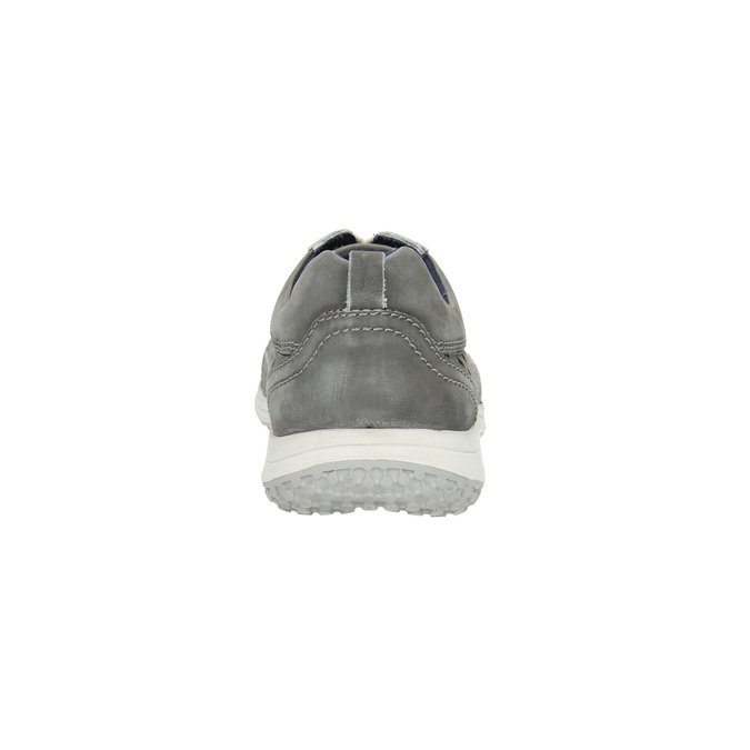 Leather tennis shoes with perforations bata, gray , 846-2634 - 17