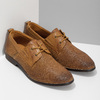 Casual leather shoes with perforations bata, brown , 856-3601 - 26