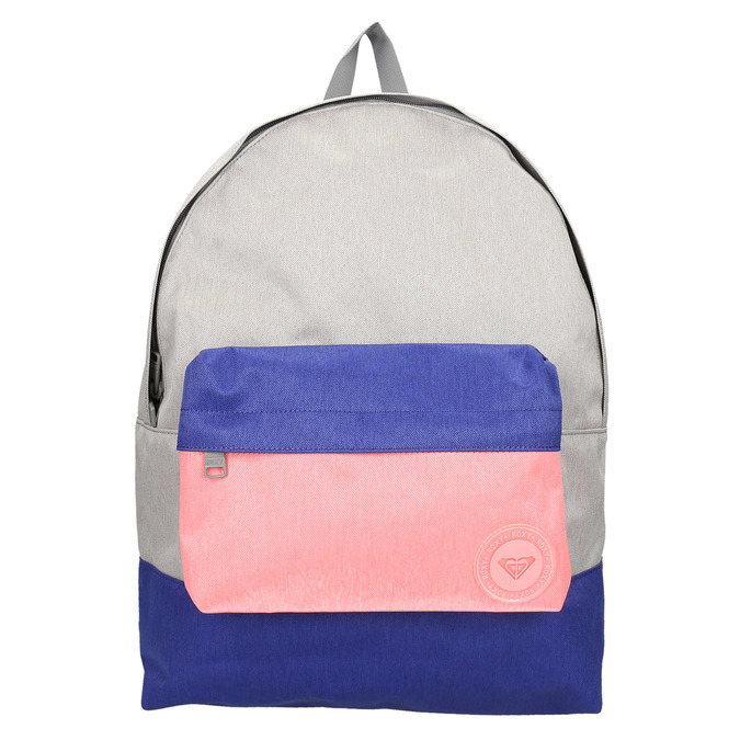 Coloured backpack roxy, gray , 969-2051 - 19