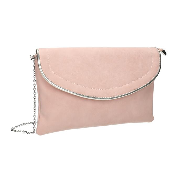 Pink clutch bata, pink , 961-5708 - 13