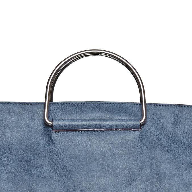 Ladies' blue handbag bata, blue , 961-9327 - 19