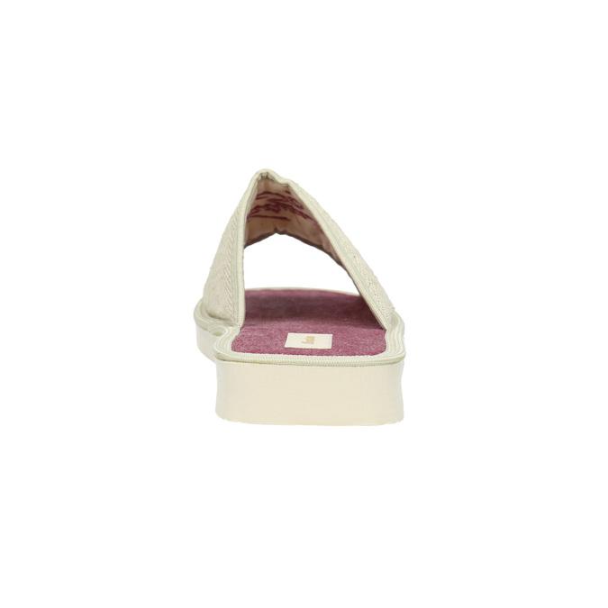 Ladies' slippers bata, beige , 579-8618 - 17