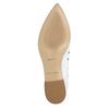 White leather ballet pumps bata, white , 524-1604 - 19
